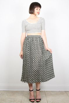 Vintage 90s Skirt Soft Grunge Skirt Accordion by ShopTwitchVintage