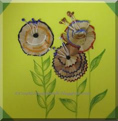 Pencil Shaving Art! Good way to teach reuse/recycling objects