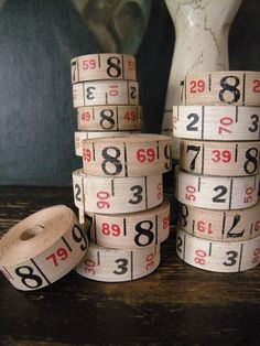 Vintage Fabric Measuring Tape by SongbirdSalvation, etsy