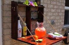 Backyard Simple Bar. Interesting things to do out there in your backyard. So simple and cheap to make, and you could play them with your kids or family anytime. http://hative.com/creative-and-fun-backyard-ideas/