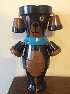 Flower Pot Dog / Pot Person Planter / by RusticMtnGirlCrafts