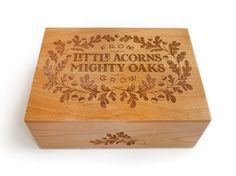 A cute wooden box maybe for a nursery gift.