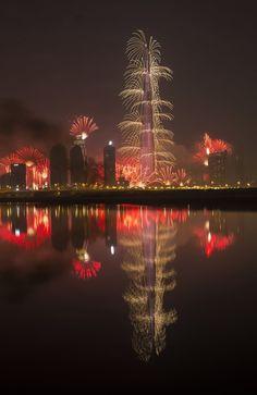 Burj Khalifa New Year Celebrations by Manjunath Undi
