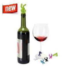 Colorful Wine Drinking Charms and Topper Buddies