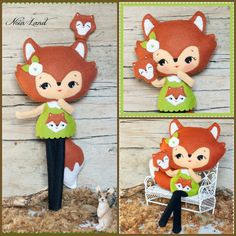PDF. Woodland fox doll with puppet . Pattern. por Noialand en Etsy