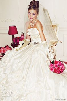 http://weddinginspirasi.com/2012/02/12/barbie-bridal-wedding-dresses-2012/ barbie #wedding dresses 2012 #weddings #weddingdress #princess #ballgown