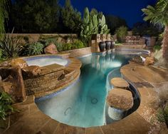 Orange County Projects - tropical - Pool - Orange County - Alderete Pools Inc Swimming Pool Cost, Amazing Swimming Pools, Swimming Pool Designs, Cool Pools, Pool Spa, Pool Finishes, Pool Remodel, Pool Picture, Tropical Pool