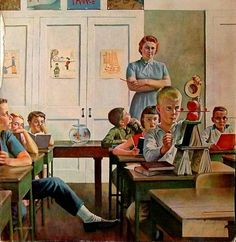 John Philip Falter (1910-1982, American) Future Engineer, remember the cloak rooms at the back of the classroom???