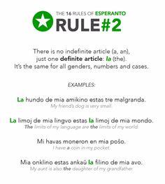 esperanto: rule 2