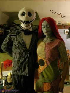 Jack and Sally. Sally Skellington - Homemade costumes for women & 58 best Jack u0026 Sally Halloween costumes images on Pinterest | Sally ...