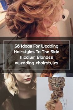 56 Ideas For Wedding Hairstyles To The Side Medium Blondes #wedding #hairstyles Side Hairstyles, Wedding Hairstyles, Wedding Hair Side, Medium Blonde, Blondes, Hair Styles, Ideas, Hair Plait Styles, Side Up Hairstyles