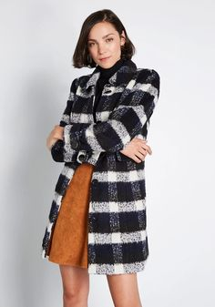 Since you've adopted this black plaid coat from our ModCloth namesake label into your wardrobe, your looks have been their most fabulous yet! The proper. Winter Date Outfits, Plaid Coat, 70s Fashion, Style Fashion, Fashion Ideas, Winter Fashion, Black Plaid, Modcloth, Clothes For Women