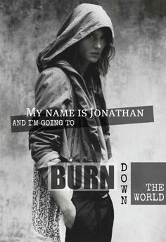"The Mortal Instruments: Jonathan Morgenstern (City of Lost Souls). ""My name is Jonathan and I'm going to burn down the world""... A Jamie Campbell Bower-esk type person."