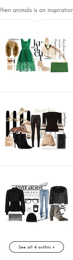 When animals is an inspiration... by femalelegend on Polyvore featuring Burberry, WithChic, Jimmy Choo, Valextra, NLY Accessories, Carolee, Bobbi Brown Cosmetics, rag & bone, Exclusive for Intermix and Charles David
