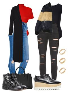 """""""Untitled #433"""" by zaraoutfits ❤ liked on Polyvore featuring Maison Margiela, WearAll, Paige Denim, STELLA McCARTNEY, ASOS, Yves Saint Laurent, Givenchy, Hallhuber and plus size clothing"""