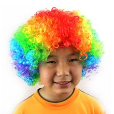 Halloween Role Play Wig Clown Afro Hairpiece Amusing Bomb Hairwear Halloween New Year Decorative Headwear