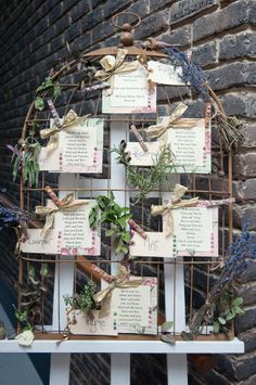 Rustic Relaxed Homemade Wedding Table Plan http://www.sarareeve.com/