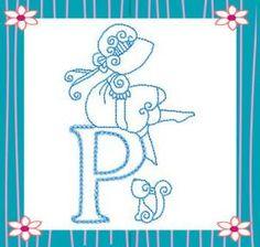 Sunbonnet Alphabet - Kreative Kiwi Embroidery   OregonPatchWorks