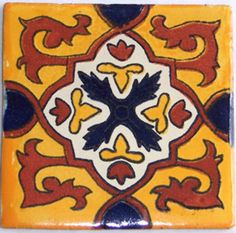 "90 Mexican CERAMIC  4x4"" Handmade Talavera Tiles  C120 #Talavera"
