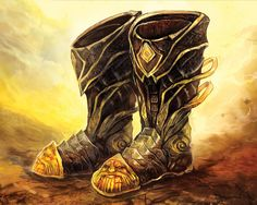 The Boots of Fire Walking. Grant resistance to fire damage. Allow walking over 10 feet of lava or charcoals at a time or standing safely on top of it for 1 round.
