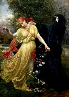 pre-raphaelisme:  At the First Touch of Winter, Summer Fades Away by Valentine Cameron Prinsep, 1897.