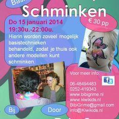 Basis Workshop schminken....geef je nu op!!!