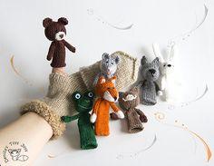 Ravelry: Finger Puppets. pattern by Tatyana Korobkova