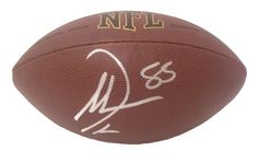 Antonio Gates Autographed NFL Wilson Football, Proof Photo