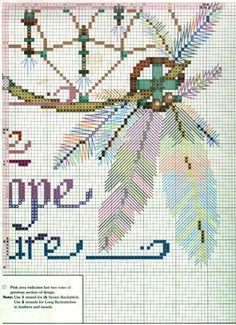 Borduurpatroon Kruissteek Dromenvanger *Embroidery Cross Stitch Pattern Dreamcatcher ~Afbeelding 3 Ringen 5/5~