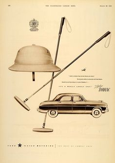 A vintage ad that shows how closely the post-war polo helmet resembled the military sun helmet