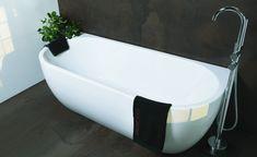 Half vrijstaand bad mat wit - Back to wall bad half rond van acryl in mat wit – Luxury Interior Design, Bathroom Interior Design, Toilet, Bathtub, Wall, Chic, Magnifying Glass, Kitchen Modern, Shower