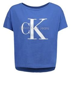 Calvin Klein Jeans Printtipaita - blue - Zalando.fi