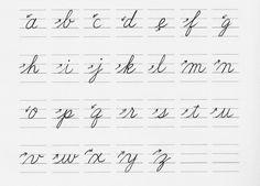 アルファベット「筆記体の小文字」