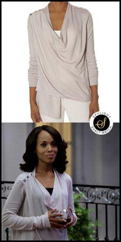 Olivia Pope's Limited Epaulet Cardigan #Scandal #TVFashion