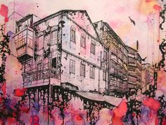 Peter Yuill - Ink Paintings of Hong Kong Streets