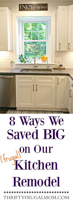 Planning a frugal kitchen remodel? Here are 8 easy ways that we saved big on our own kitchen remodel!