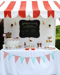 Old Fashioned Ice Cream Parlor Birthday Party via Kara's Party Ideas | Kara'sPartyIdeas.com