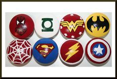 Handmade Spark - HobKnobin - Avengers , Super Heroes Knobs- Spiderman, Batman, Superman, Green Lantern, Wonder Women, Flash, Captain America