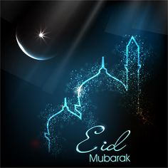 Eid Mubarak Mosque Background Vector
