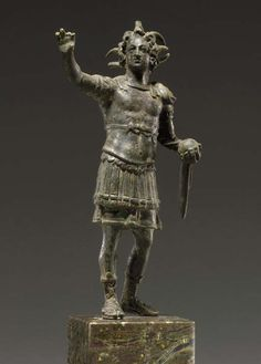 BRONZE STATUE OF ALEXANDER THE GREAT AS THE CONQUERING SUN GOD OF THE PANDORIANS CIRCA 100A.D