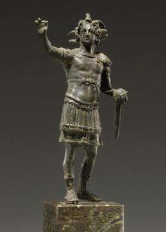 A ROMAN BRONZE ALEXANDER THE GREAT AS HELIOS CIRCA 1ST-2ND CENTURY A.D.