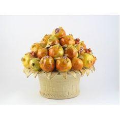 Handmade Italian Ceramic Fruit Basket by ND Dolfi, Tuscany