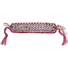 Liu •jo Bracelet (£24) ❤ liked on Polyvore featuring jewelry, bracelets, lilac and fringe jewelry