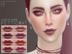 The Sims Resource: Petticoat - Glossy Lip Colour • Sims 4 Downloads