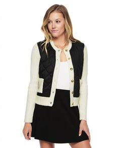 PUFFER SWEATER CARDIGAN