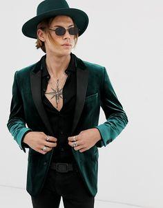 Green Velvet Jacket, Velvet Suit, Green Suit, Velvet Blazer, Cheap Suits For Men, Safari, Smoking Jacket, Tuxedo For Men, Cropped Blazer