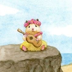 Hawaiian Sukeroku Image / Editing that can only be seen here . Cute Animal Drawings, Cute Drawings, Cute Animal Illustration, Hamster Live, Baby Animals, Cute Animals, Cute Hamsters, Dibujos Cute, Hippie Art