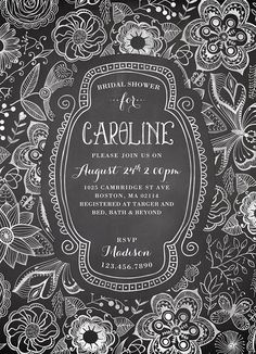 Bridal Shower Invitation | via RedBird Paperie