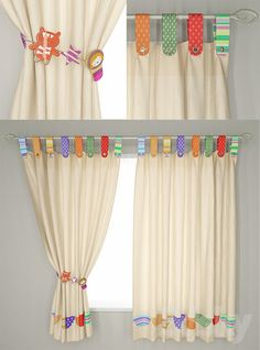 curtains in the childrens room - Kids Curtains - Ideas of Kids Curtains Childrens Curtains, Kids Room Curtains, Baby Room Curtains, Cute Curtains, Curtains With Blinds, Kitchen Curtains, Unique Curtains, Rideaux Design, Nursery Decor