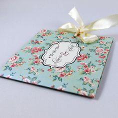 Invitaţie de nuntă Shabby chic albastră http://designbyclarice.ro/